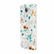 Husa Silicon Transparent Slim Spirng Flowers Huawei Y6 Pro
