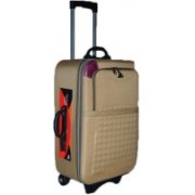 """Ossum Polyster Matty 24"""" Inches / 60 cm Softsided Trolley   Expandable Check-in Luggage - 24 inch(Beige)"""