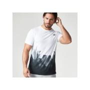 Digital Geo Print T-shirt - XXL - Zwart
