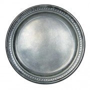 Club Pack of 96 Medieval Style Pewter Disposable Paper Party Plates 9""