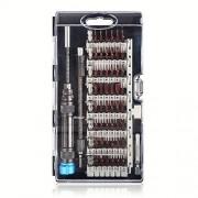Walmeck Juego de destornilladores de precisión multiusos 60 en 1 con bolígrafo magnético, flexible, de metal, para mantenimiento de electrodomésticos, para computadora, teléfono celular