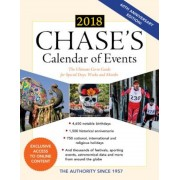 Chase's Calendar of Events 2018: The Ultimate Go-To Guide for Special Days, Weeks and Months, Paperback (61th Ed.)