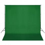 vidaXL Sistema porta-fundos 600 x 300 cm verde