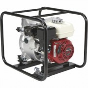 NorthStar Self-Priming Cast Iron Full Trash Water Pump - 2 Inch Ports, 11,100 GPH, 1 Inch Solids Capacity, 160cc Honda GX160 Engine, Port