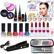 ColorDiva Super Saving Makeup Combo With Hair Straightener Free Makeup Pouch