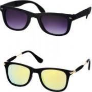 Stysol Wayfarer Sunglasses(Black, Yellow)