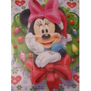 Disney Minnie Mouse Bow-tique Tray Puzzle ~ Christmas Edition (Minnie in Wreath; 12 Pieces)