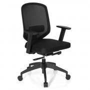 Hjh Silla de oficina ergonómica DAMA PRO, soporte lumbar ajustable, gran calidad, en negro