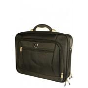 Fitz textilní aktovka - kufřík černá