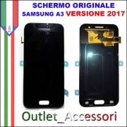 Display LCD Touch Samsung A3 2017 A320 A320F Nero Black Schermo Completo Originale GH97-19732A