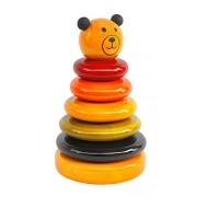 Wembley Organic Grizzly Bear Colorful Stacking Rings