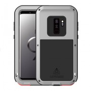 LOVE MEI Shockproof Dropproof Dustproof Cover for Samsung Galaxy S9+ SM-G965 - Silver