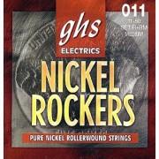 GHS Strings R+RM Nickel Rockers Rollerwound Pure Nickel Electric Guitar Strings Medium (.011-.050)