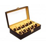 Cutie 10 Ceasuri Bronze Carbon by Friedrich Uhrenboxen Made in Germany