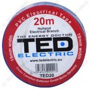 TED Electric Banda izolatoare, PVC 19 mm x 20 m, Albastra