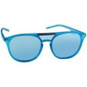 Polaroid Retro Square Sunglasses(Blue)