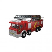 Mota Fire Truck Engine With Adjustable Ladder, Water Pump(Shooting Squirting Water),Light/Sound