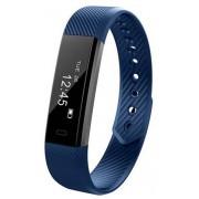Bratara Fitness iUni ID115 Plus, Display OLED, Bluetooth, Pedometru, Monitorizare puls, Notificari, Android si iOS (Albastru)