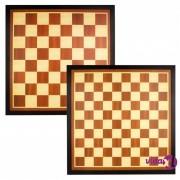Abbey Game Igraća ploča šah + dama uokvirena smeđa/svjetlobež drvena