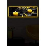 Tablou pe panza iluminat Shining, 239SHN1257, 30 x 90 cm, panza