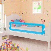 vidaXL Toddler Safety Bed Rail 2 pcs Blue 150x42 cm