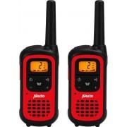 Alecto FR-100RD Walkie Talkie - Bereik tot 7 kilometer - Compact formaat - zwart/rood