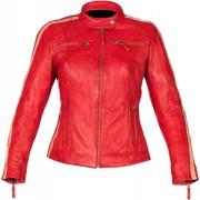 Rusty Stitches Uma Ladies Motorcycle Leather Jacket Red 42