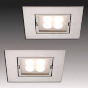 HERA ARF-Q LED recessed light, set of 2 stainless steel