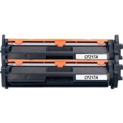Merkloos - Tonercartridge / Alternatief voor HP CF217A Compatible met HP LaserJet Pro M102a, M102w, MFP M130a, M130nw, M130fn, M130fw - Zwart, met chip, 2-Pack