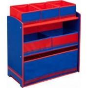 Organizator jucarii Delta Children cu cadru din lemn Love Blue Red