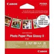 ORIGINAL Canon Carta Bianco 2311B070 PP-201 ~0 Seiten 0ml glossy II carta lucida Plus, 8,9x8,9cm, 20 fogli, ad alta brillantezza