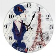 Asztali óra üveg Fashion 17cm 2188 - Óra, falióra