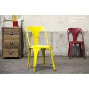 Chaise industrielleMultipl's jaune vieilli
