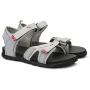 Puma Women Steel Gray-Pink Glo Sports Sandals