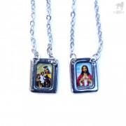 CA-RIO-CA Escapulario De Metal Necklace Jewelry Color CRC-N1004