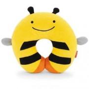 Skip Hop Zagłówek dziecięcy - rogal do samochodu dla dzieci, poduszka Pszczoła,