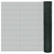 vidaXL Square Wire Netting 1x25 m PVC-coated and Galvanised Mesh Size 16x16mm