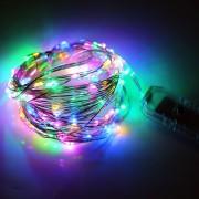 Snur Luminos 100 Micro LED Multicolor 10m Fir Silver USB T8052