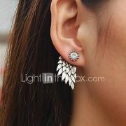 Heren Dames Oorknopjes Bergkristal Vintage Strass Legering Wings Sieraden Voor Bruiloft Feest Dagelijks Causaal
