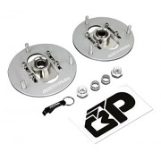 BlackPath - 1984-1987 Toyota Corolla Adjustable Front Chamber Plates AE86 Caster Plates (Polished) T6 Billet