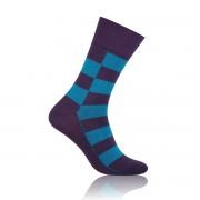 klasszikus férfi zokni Willsoor 5066 sötét lila szín