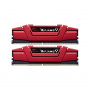Memoria G.Skill Ripjaws V DDR4 PC4-22400 (2800MHz), CL16, 16GB (2 X 8GB), Kit Con Dos Piezas De 8GB. Color Rojo. F4-2800C15D-16GVRB