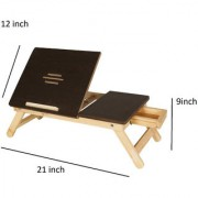 IBS lapdesk Foldable Study wooden Kids Study bed with Drawer Wood Portable Laptop Table(Finish Color - brown)