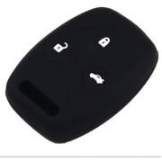 Car Key Cover Silicon - HONDA CITY New Model 2014 - 3 Button - Color Black
