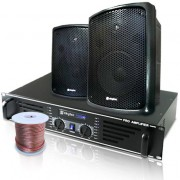 Skytec Equipo PA Altavoces Amplificador Cableado (Gastronomie-Set)