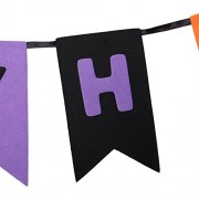 ELECTROPRIME® Happy Halloween Banner Garland Bunting Ghost Haunted House Garden Party Accs