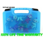 Life Made Better Toy Storage Organizer - Fits 6 Interactive Baby Monkeys - Durable Carrying Case- Blue