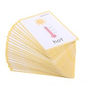 Phenovo Various Flash Cards Set - Educational Learning Picture & Word Card Flashcards - Weather, 13.5x9.2cm