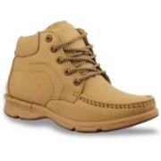 Bacca Bucci Men Tawyer Evo Leather Casual Boots For Men(Khaki)