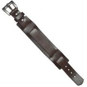 Men Style Punk Rock New 2 Layer Belt Genuine Brown Leather belt buckle Bracelet For Men And Women